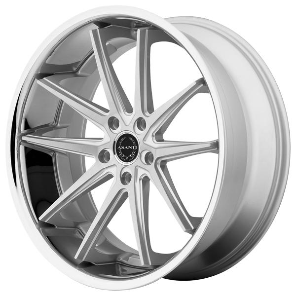 ABL-5 SILVER MACHINED RIM with SS LIP by ASANTI WHEELS