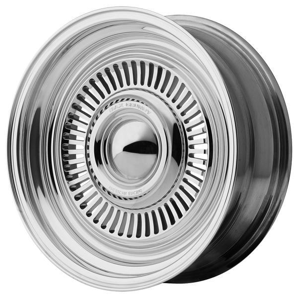 VN478 TURBINE CHROME CENTER POLISHED RIM by AMERICAN RACING WHEELS