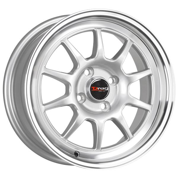 DR16 SILVER RIM with MACHINED LIP by DRAG WHEELS