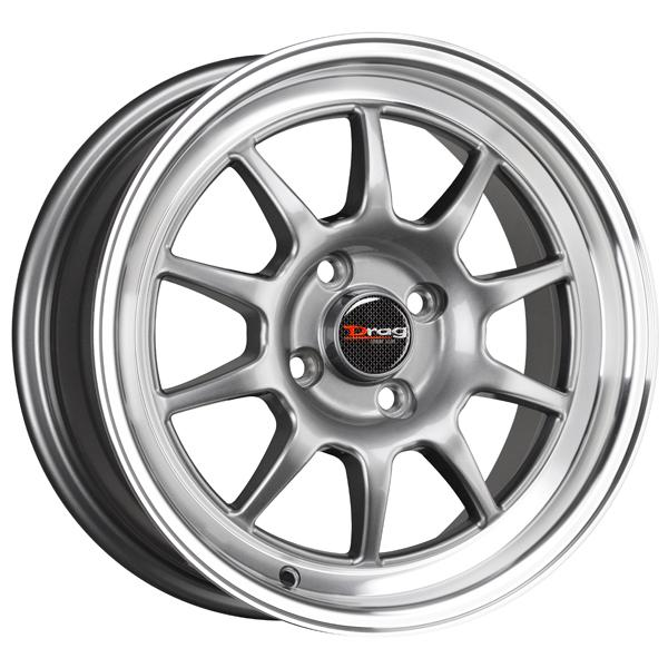 DR16 GUNMETAL RIM with MACHINED LIP by DRAG WHEELS