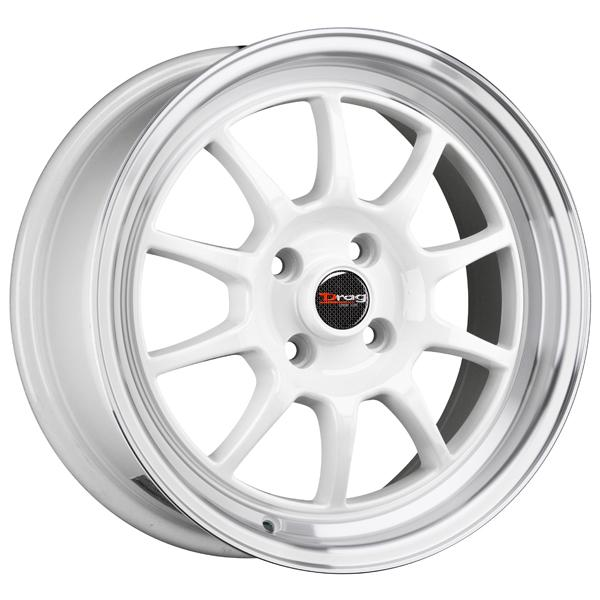 DR16 WHITE RIM with MACHINED LIP by DRAG WHEELS