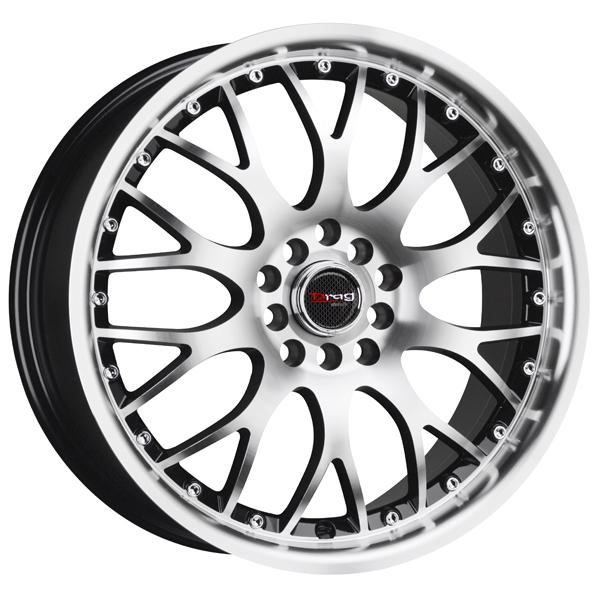 DR19 GLOSS BLACK RIM with MACHINED FACE by DRAG WHEELS