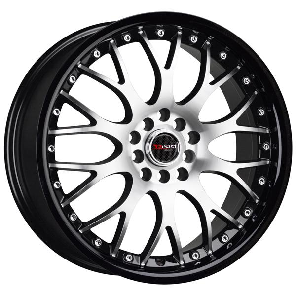DR19 GLOSS BLACK RIM with MACHINED FACE and BLACK LIP by DRAG WHEELS