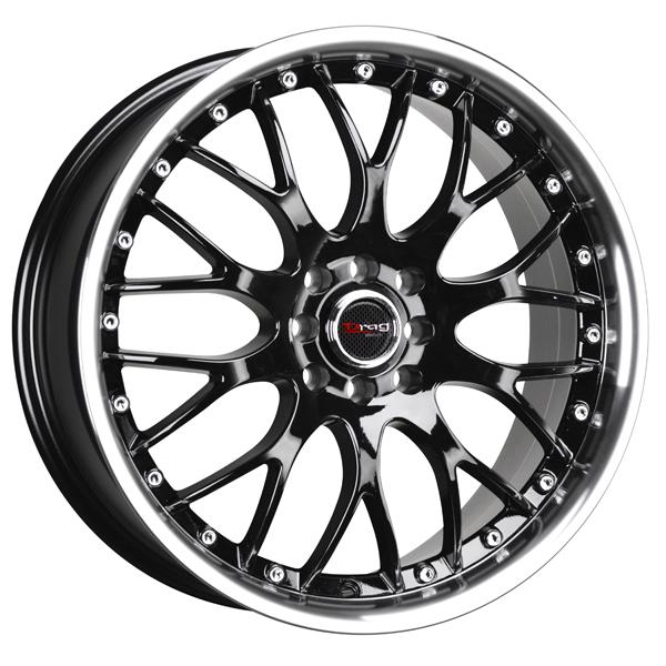 DR19 GLOSS BLACK RIM with MACHINED LIP by DRAG WHEELS