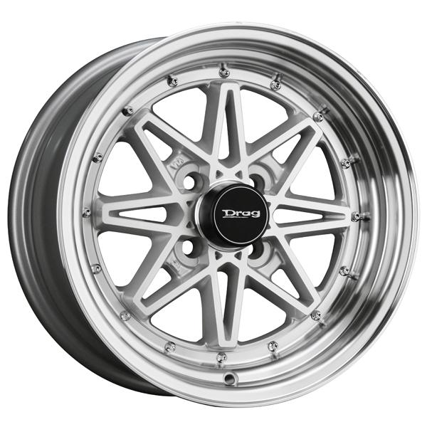 DR20 SILVER RIM with MACHINED FACE by DRAG WHEELS