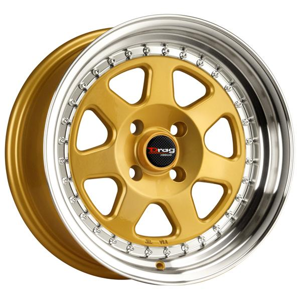 DR27 GOLD RIM with MACHINED LIP by DRAG WHEELS
