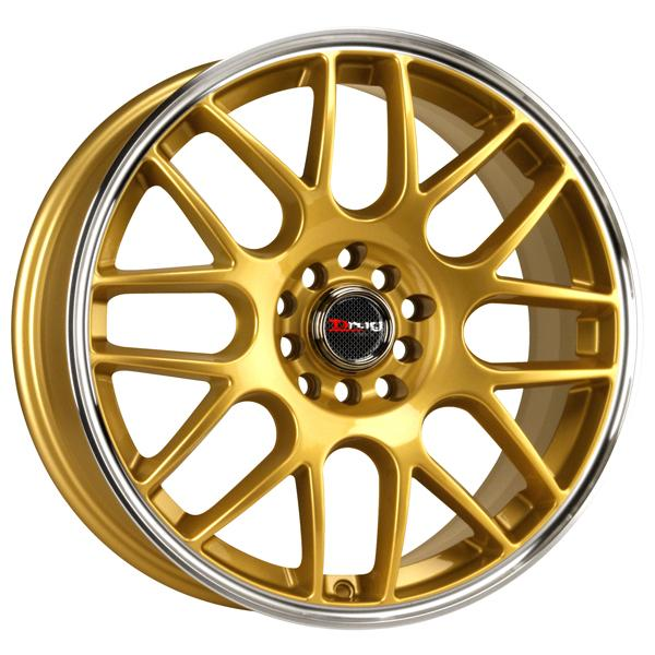 DR34 GOLD RIM with MACHINED LIP by DRAG WHEELS