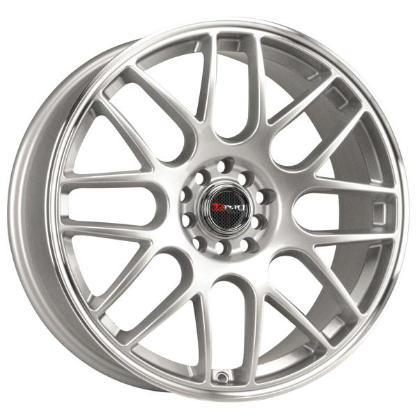 DR34 SILVER RIM with MACHINED LIP by DRAG WHEELS