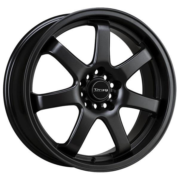 DR35 FLAT BLACK FULL PAINTED RIM by DRAG WHEELS