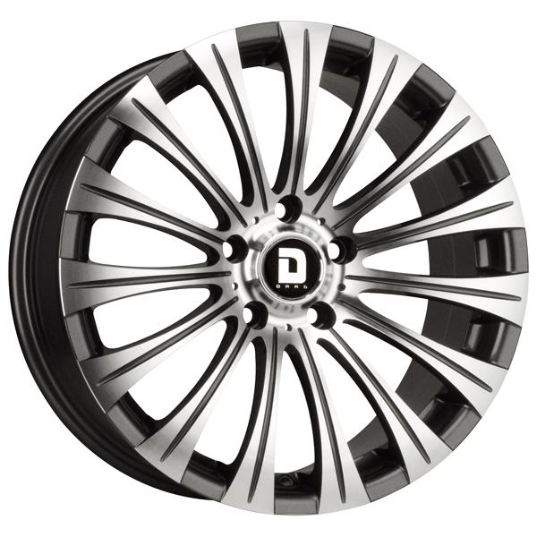 DR43 GUNMETAL RIM with MACHINED FACE by DRAG WHEELS