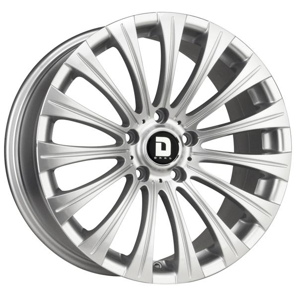 DR43 SILVER FULL PAINTED RIM by DRAG WHEELS