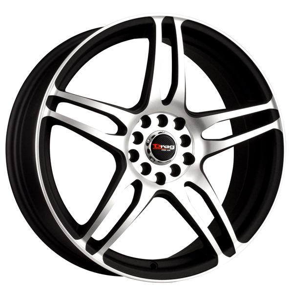 DR50 FLAT BLACK RIM with MACHINED FACE by DRAG WHEELS
