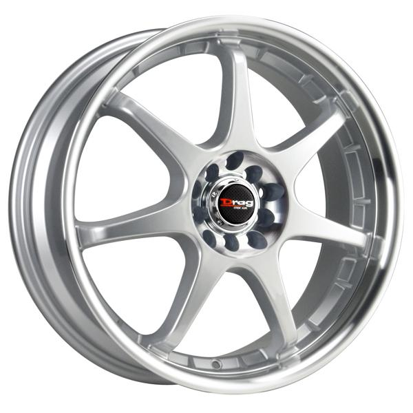 DR51 SILVER RIM with MACHINED LIP by DRAG WHEELS