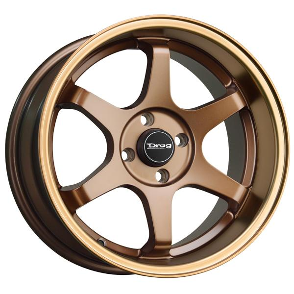 DR53 FLAT BRONZE RIM with BRONZE LIP by DRAG WHEELS