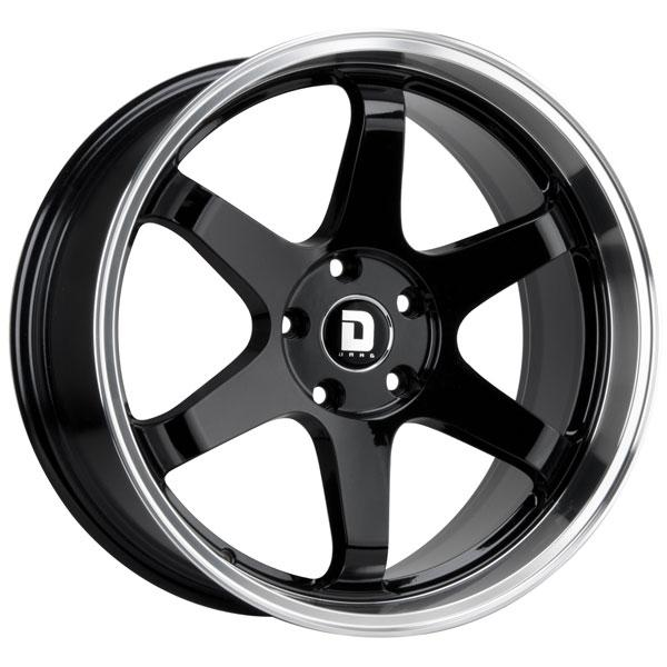 DR53 GLOSS BLACK RIM with MACHINED LIP by DRAG WHEELS