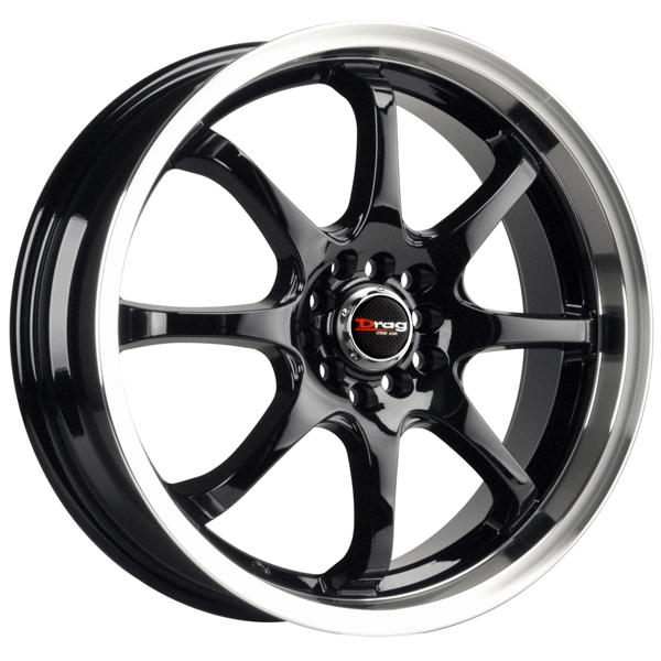 DR55 GLOSS BLACK RIM with MACHINED LIP by DRAG WHEELS