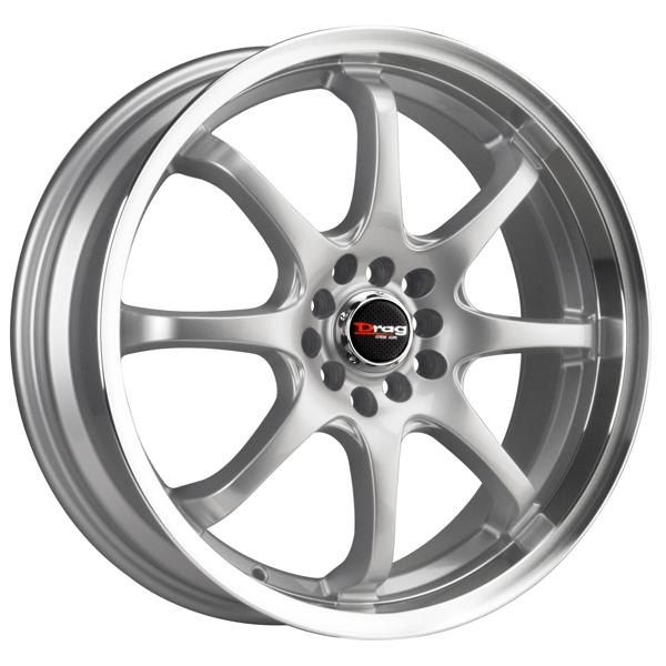 DR55 SILVER RIM with MACHINED LIP by DRAG WHEELS