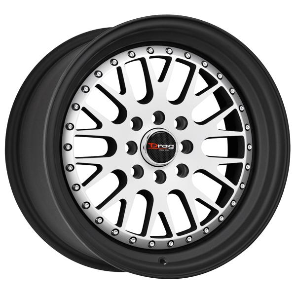 DR58 FLAT BLACK RIM with MACHINED FACE by DRAG WHEELS