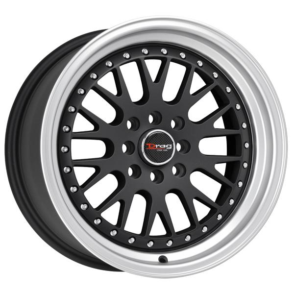 DR58 FLAT BLACK RIM with MACHINED LIP by DRAG WHEELS