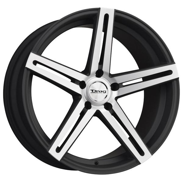 DR60 FLAT BLACK RIM with MACHINED FACE by DRAG WHEELS