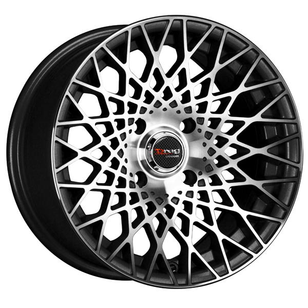DR65 GLOSS BLACK RIM with MACHINED FACE by DRAG WHEELS