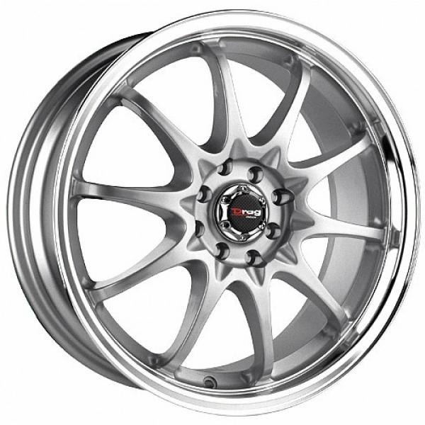 DR9 SILVER RIM with MACHINED LIP by DRAG WHEELS