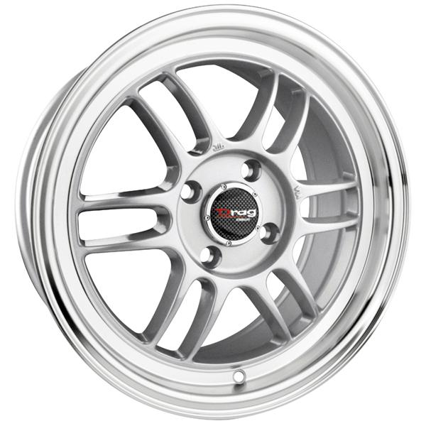 DR21 SILVER RIM with MACHINED LIP by DRAG WHEELS