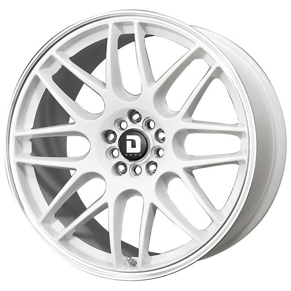 DR34 WHITE RIM with MACHINED LIP by DRAG WHEELS