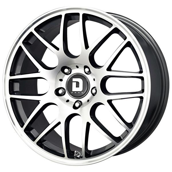 DR37 GUNMETAL RIM with MACHINED FACE by DRAG WHEELS