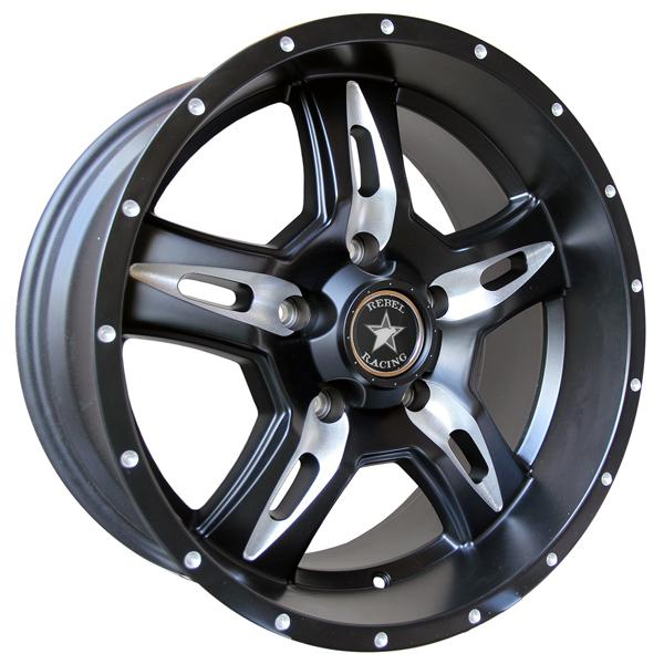REMINGTON MATTE BLACK RIM with BALL MILL SPOKE by REBEL RACING WHEELS