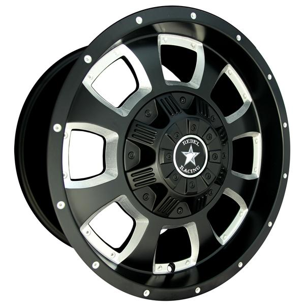 TOMMYGUN MATTE BLACK RIM with BALL MILL SPOKE by REBEL RACING WHEELS