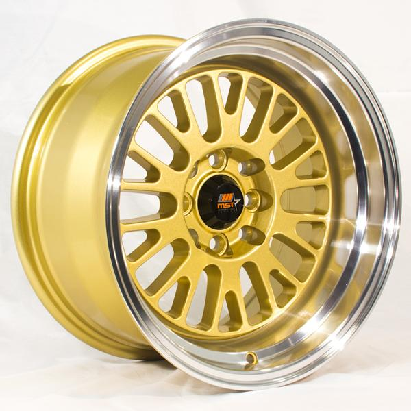 MT02 GOLD RIM with MACHINED LIP by MST WHEELS