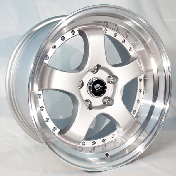 MT07 SILVER RIM with MACHINED LIP by MST WHEELS