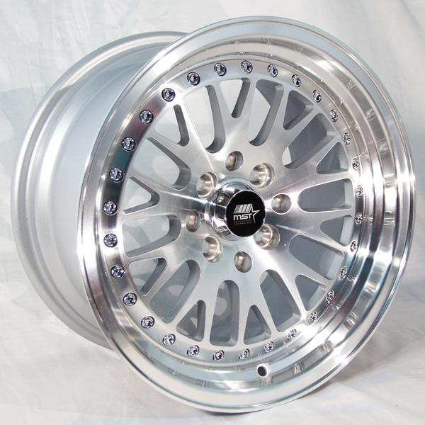 MT10 SILVER RIM with MACHINED FACE by MST WHEELS