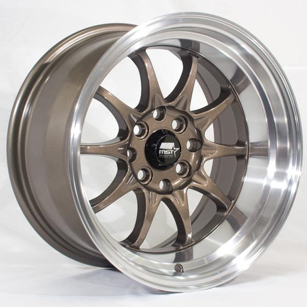 MT11 BRONZE RIM with MACHINED LIP by MST WHEELS