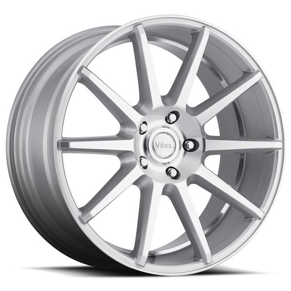 DANZA SILVER RIM with MACHINED FACE and UNDERCUT by VOXX WHEELS