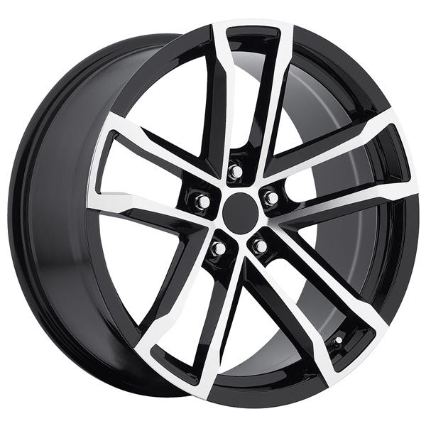 CHEVY CAMARO ZL1 2012 STYLE 41 BLACK RIM with MACHINED FACE by FACTORY REPRODUCTIONS WHEELS