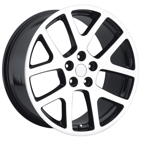 JEEP VIPER STYLE 64 BLACK MACHINED FACE RIM by FACTORY REPRODUCTIONS WHEELS