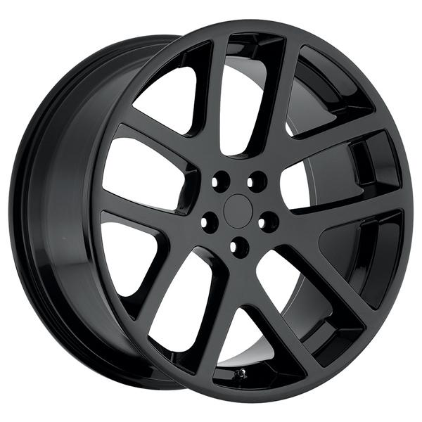 JEEP VIPER STYLE 64 GLOSS BLACK RIM by FACTORY REPRODUCTIONS WHEELS