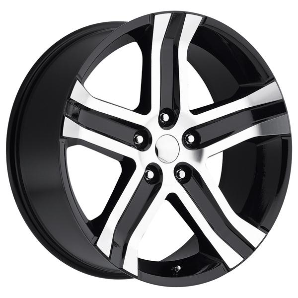 DODGE RAM RT 2013 STYLE 69 BLACK MACHINED FACE RIM by FACTORY REPRODUCTIONS WHEELS