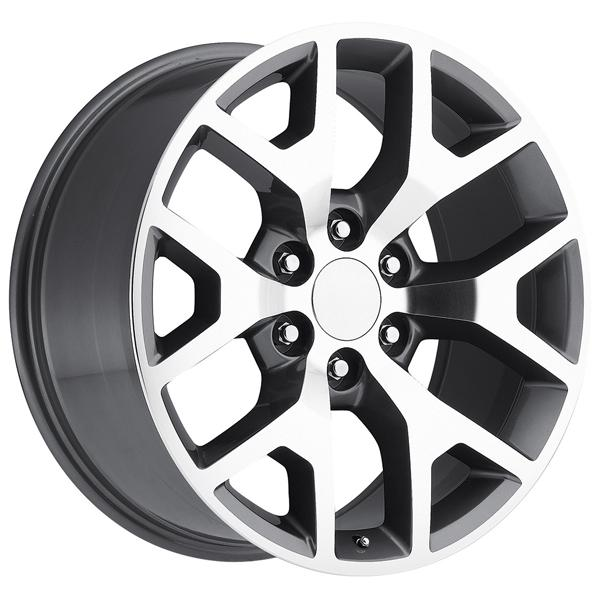 GMC SIERRA 2014 STYLE 44 GREY MACHINED FACE RIM by FACTORY REPRODUCTIONS WHEELS