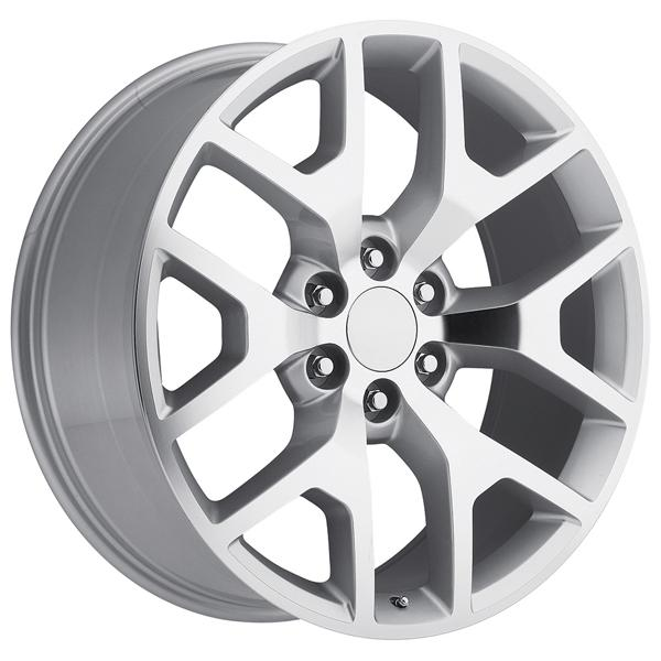 GMC SIERRA 2014 STYLE 44 SILVER MACHINED FACE RIM by FACTORY REPRODUCTIONS WHEELS
