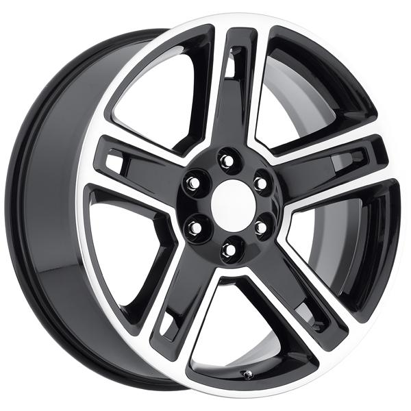 CHEVY 2015 SILVERADO 1500 STYLE 34 BLACK MACHINED FACE RIM by FACTORY REPRODUCTIONS WHEELS