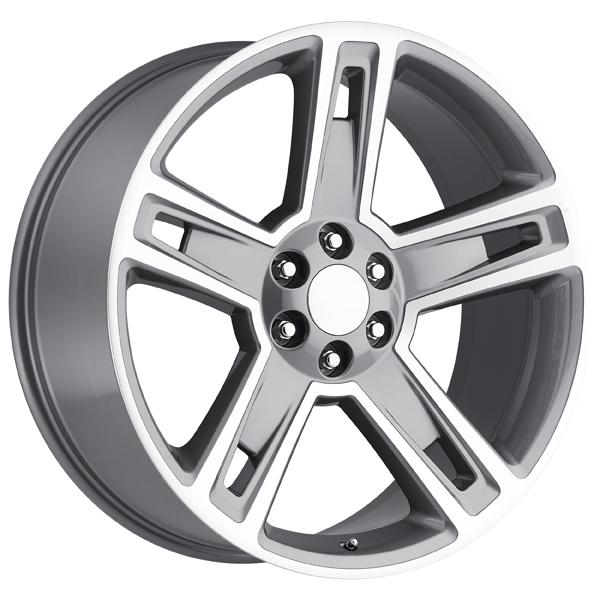 CHEVY 2015 SILVERADO 1500 STYLE 34 GREY MACHINED FACE RIM by FACTORY REPRODUCTIONS WHEELS