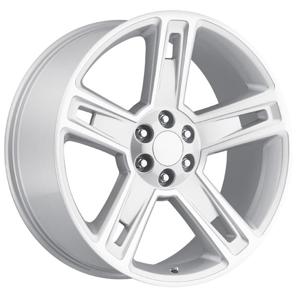 CHEVY 2015 SILVERADO 1500 STYLE 34 SILVER MACHINED FACE RIM by FACTORY REPRODUCTIONS WHEELS