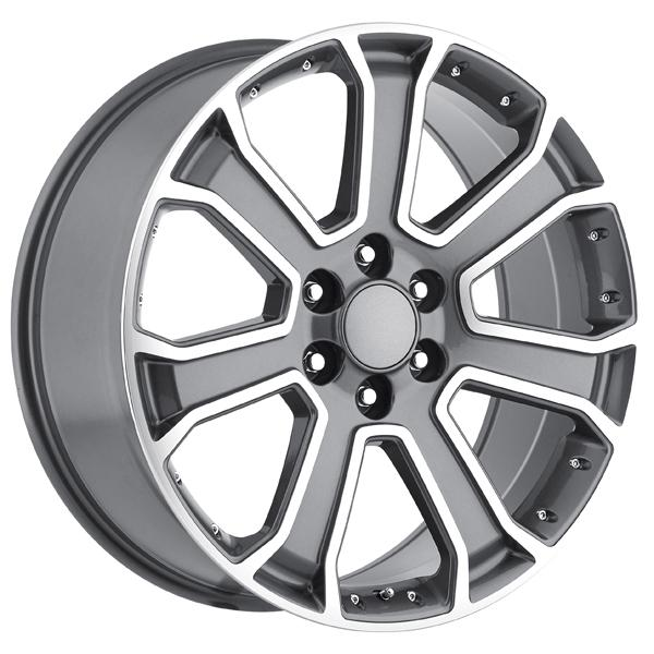 GMC 2015 YUKON DENALI STYLE 49 GREY MACHINED FACE RIM by FACTORY REPRODUCTIONS WHEELS