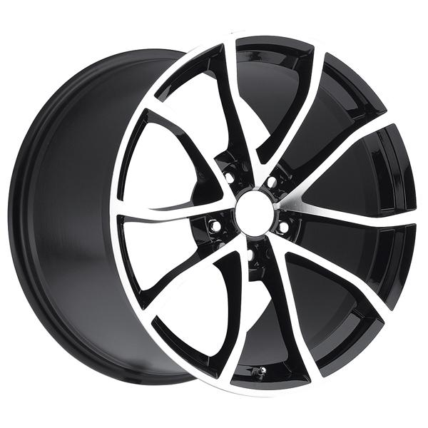 CORVETTE CUP C6 2012 STYLE 25 BLACK MACHINED FACE RIM by FACTORY REPRODUCTIONS WHEELS