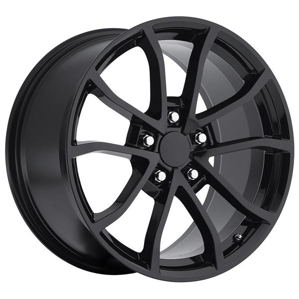 CORVETTE CUP C6 2012 STYLE 25 GLOSS BLACK RIM by FACTORY REPRODUCTIONS WHEELS