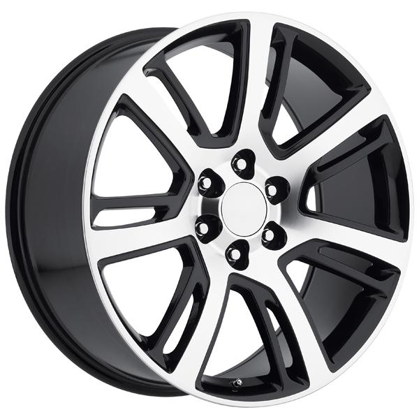 CADILLAC ESCALADE 2015 STYLE 48 BLACK MACHINED FACE RIM by FACTORY REPRODUCTIONS WHEELS