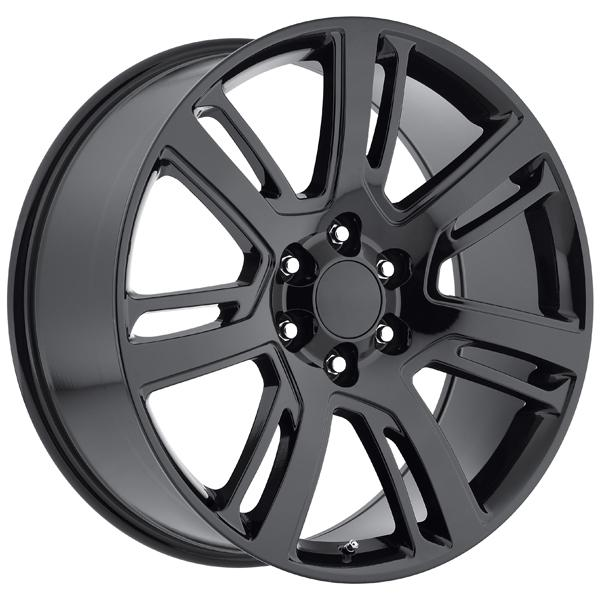 CADILLAC ESCALADE 2015 STYLE 48 GLOSS BLACK RIM by FACTORY REPRODUCTIONS WHEELS
